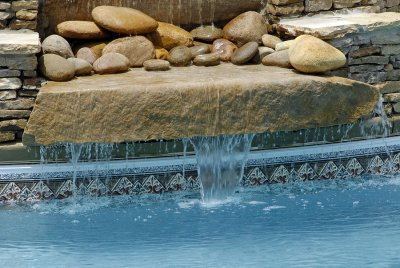 Beautified Swimming Pool Area by Deep Blue Pools and Spas